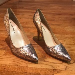 Michael Cleo Multicolored Glitter Heels